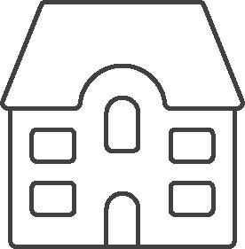 Multi family housing unit icon