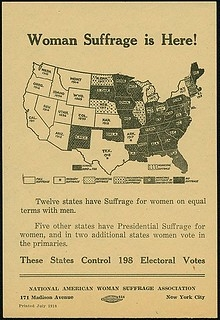 1918 Suffrage States Map