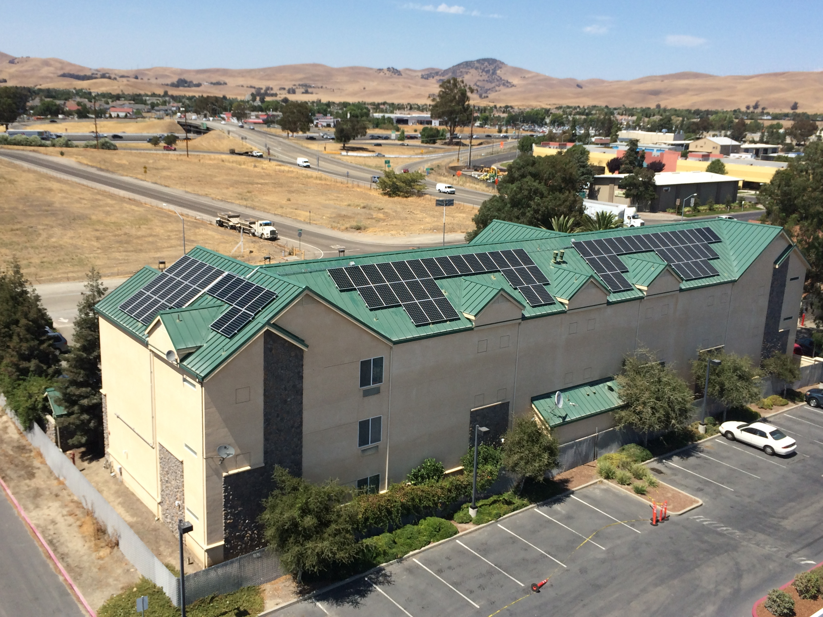 Quality Inn and Suites Solar installation