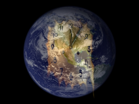 Earth Climate Clock Past Midnight